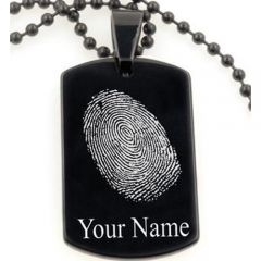 COI Tungsten Pendant With Custom Fingerprint Engraving-TG5070