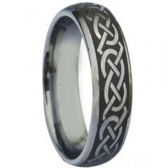 COI Tungsten Carbide Dome Court Celtic Ring - 880