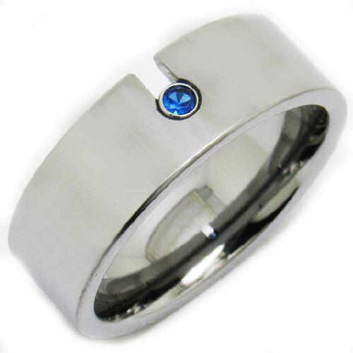*COI Tungsten Carbide Created Sapphire Pipe Cut Ring-TG3231