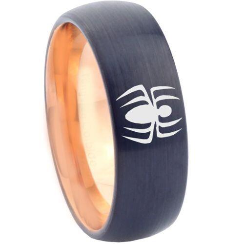 COI Tungsten Carbide Black Rose Spiderman Ring - TG2257