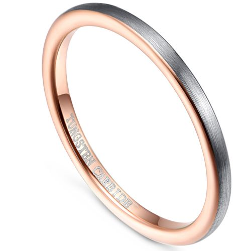 COI Tungsten Carbide Rose Silver Dome Court Ring-TG5063