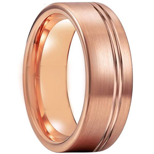 COI Rose Tungsten Carbide Offset Groove Ring-TG5210