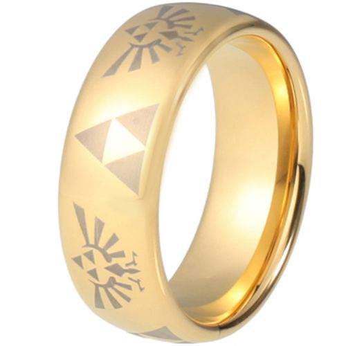COI Gold Tone Tungsten Carbide Legend of Zelda Ring-TG5216