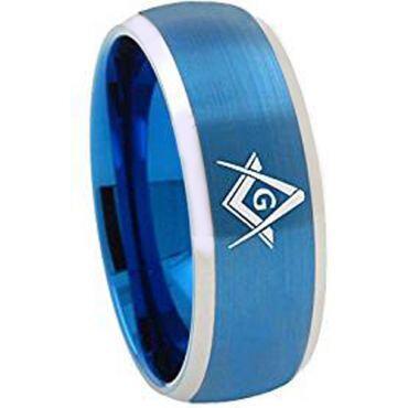 **COI Tungsten Carbide Masonic Beveled Edges Ring-TG1867AAAA