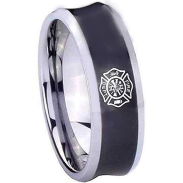 COI Tungsten Carbide Firefighter Concave Ring - TG2030CC