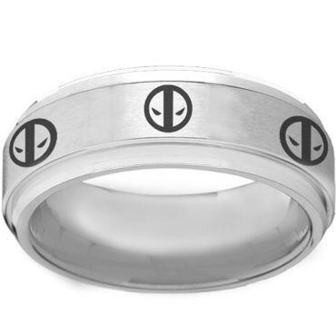 COI Tungsten Carbide DeadPool Step Edges Ring - TG2261AA