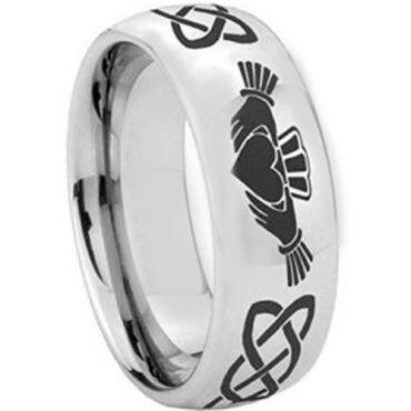 COI Tungsten Carbide Mo Anam Cara Celtic Ring - TG2346C