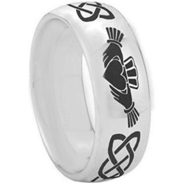 *COI Tungsten Carbide Mo Anam Cara Celtic Ring - TG2346C