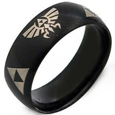 COI Black Tungsten Carbide Legend of Zelda Ring - TG2376CC