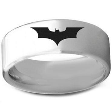 **COI Tungsten Carbide BatMan Pipe Cut Flat Ring - TG3236AA