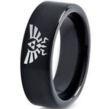 COI Black Tungsten Carbide Legend of Zelda Ring - TG3633CC