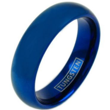 COI Blue Tungsten Carbide Dome Court Ring-TG4420