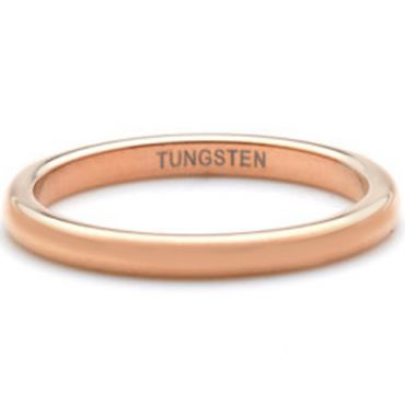 COI Rose Tungsten Carbide Dome Court Ring-TG4482