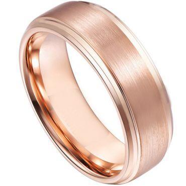 COI Rose Tungsten Carbide Step Edges Ring - TG4557CC