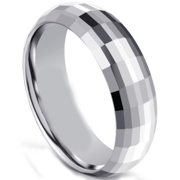 COI Tungsten Carbide Faceted Ring-5596
