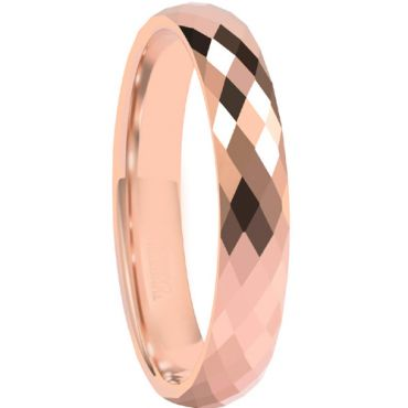 COI Rose Tungsten Carbide Faceted Ring-5665