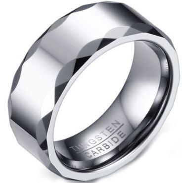 COI Tungsten Carbide Facet Ring-5731
