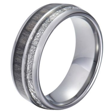 COI Tungsten Carbide Deer Antler and Meteorite Dome Court Ring-5775