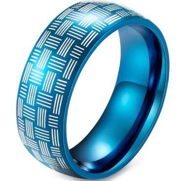 COI Blue Tungsten Carbide Dome Court Ring-5914