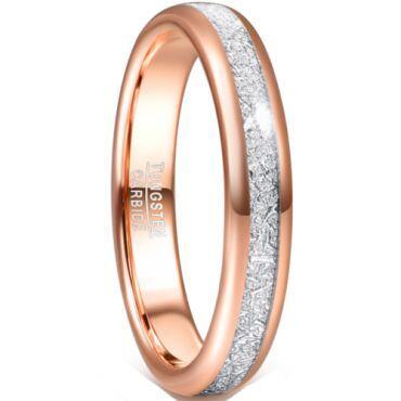 *COI Rose Tungsten Carbide Meteorite Dome Court Ring-6021