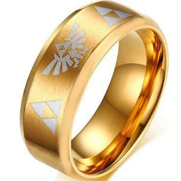 *COI Gold Tone Tungsten Carbide Legend of Zelda Ring - TG806CC