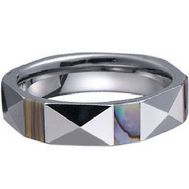 COI Tungsten Carbide Ring With Shell- TG1223(Size:US5/12.5)