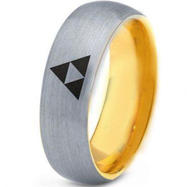COI Gold Tone Tungsten Carbide Legend of Zelda Ring-TG1231