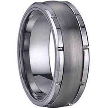 COI Tungsten Carbide Ring - TG1252(Size:US5)