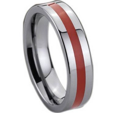 COI Tungsten Carbide Ring With Ceramic - TG137(Size:US7.5)
