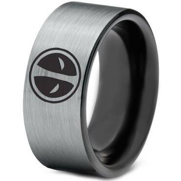 *COI Tungsten Carbide Dead Pool Pipe Cut Flat Ring-TG1437B