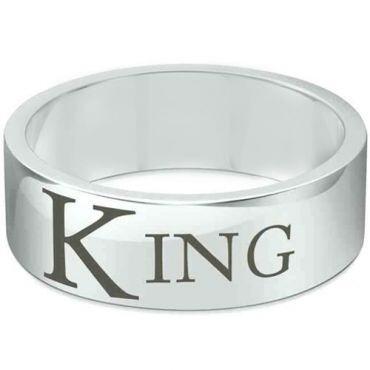 COI Tungsten Carbide Pipe Cut Flat King Ring - TG1636CC