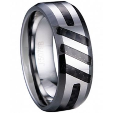 COI Tungsten Carbide Ring - TG1960(Size:US6.5/10/12)