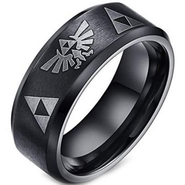 *COI Black Tungsten Carbide Legend of Zelda Ring - TG2061
