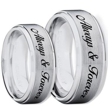 COI Tungsten Carbide Always & Forever Ring-TG2266CC