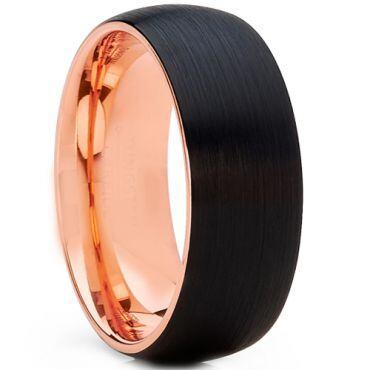 *COI Tungsten Carbide Black Rose Dome Court Ring - TG2555CC
