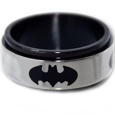 *COI Tungsten Carbide Batman Step Edges Ring-TG2960