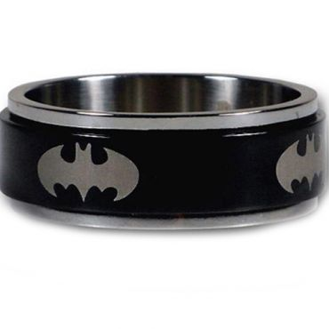 *COI Tungsten Carbide Batman Step Edges Ring - TG2961