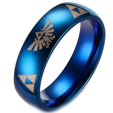 *COI Blue Tungsten Carbide Legend of Zelda Ring - TG3229BB