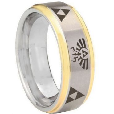 *COI Gold Tone Tungsten Carbide Legend of Zelda Ring-TG3321CC