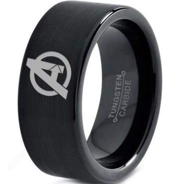 COI Black Tungsten Carbide Marvel Avengers Ring - TG3329C