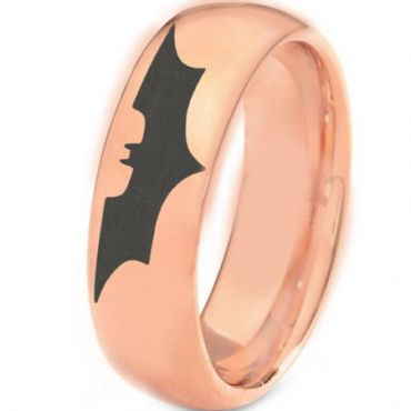 *COI Rose Tungsten Carbide Batman Dome Court Ring-TG3382