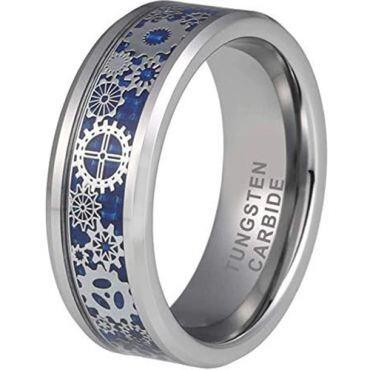 *COI Tungsten Carbide Gear Ring With Carbon Fiber-TG380AA