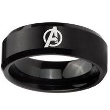COI Black Tungsten Carbide Marvel Avengers Ring - TG4164