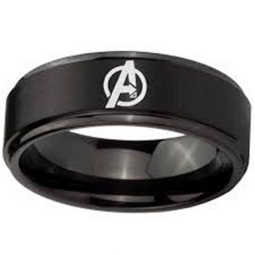 COI Black Tungsten Carbide Marvel Avengers Ring - TG4702