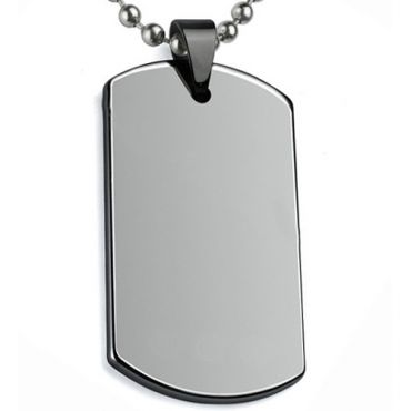 COI Tungsten Carbide Dog Tag Pendant-TG5067