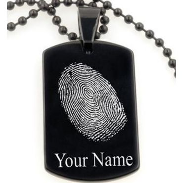 COI Tungsten Pendant With Custom Fingerprint Engraving-TG5070