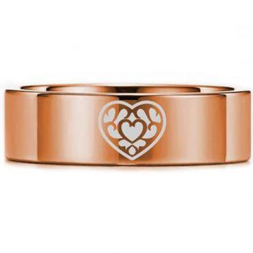 *COI Rose Tungsten Carbide Zelda Heart Pipe Cut Flat Ring-5450