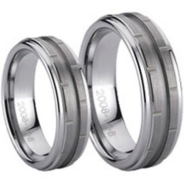 COI Tungsten Carbide Ring - TG774(Size:US8)