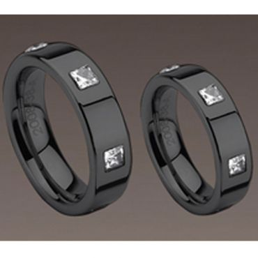 COI Black Tungsten Carbide Ring -TG983(US5)
